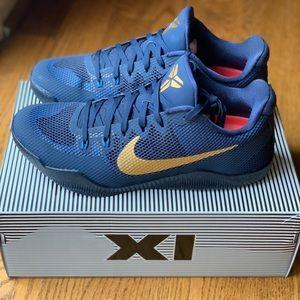 Nike Kobe XI...midnight navy/metallic gold